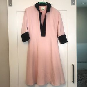 Kate Spade Pink and Black Dress Size 4